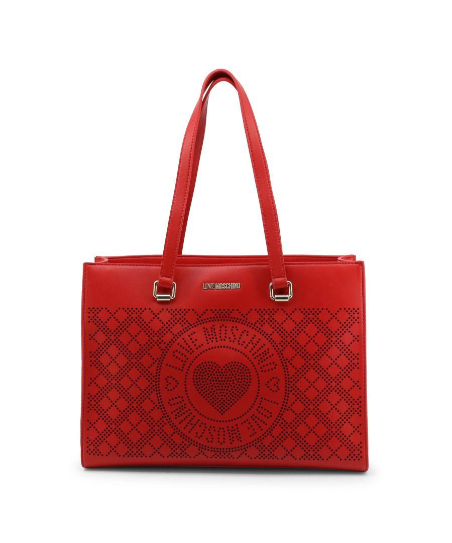 Image for Love Moschino Red Logo Shopper Bag