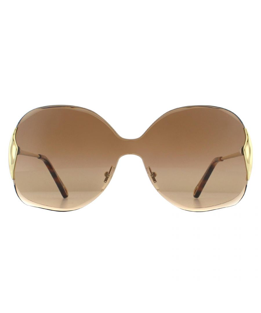 Image for Chloe Sunglasses CE162S Curtis 742 Gold Brown Gradient