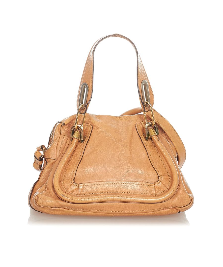 Image for Vintage Chloe Paraty Leather Satchel Brown