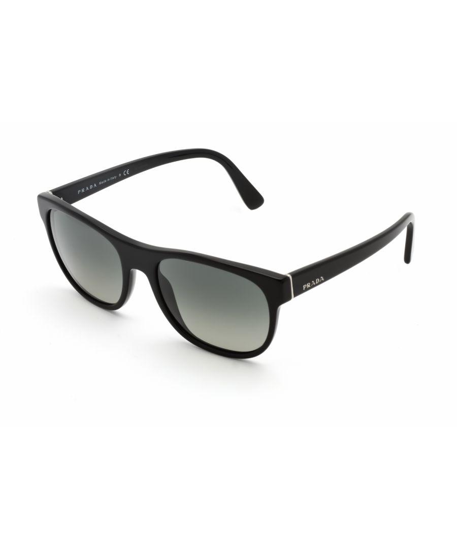 Image for Prada Rectangular plastic Women Sunglasses Black / Grey Gradient
