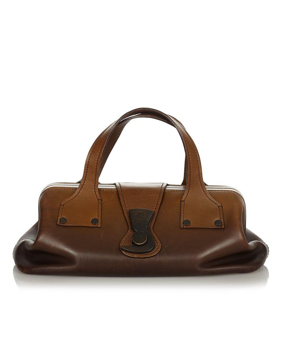 Image for Vintage Gucci Leather Doctor Bag Brown