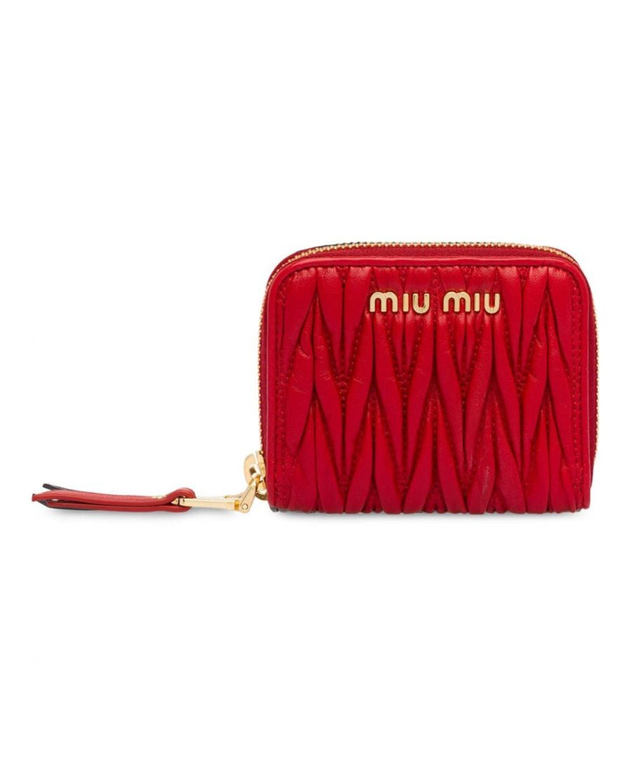 Image for MIU MIU WOMEN'S 5MM268N88F068Z RED LEATHER WALLET