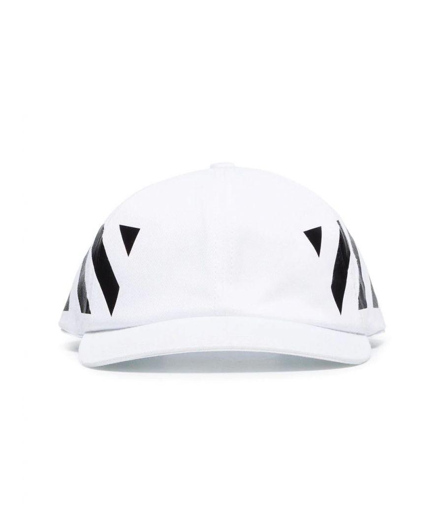 Image for OFF-WHITE MEN'S OMLB008R204000180110 WHITE COTTON HAT