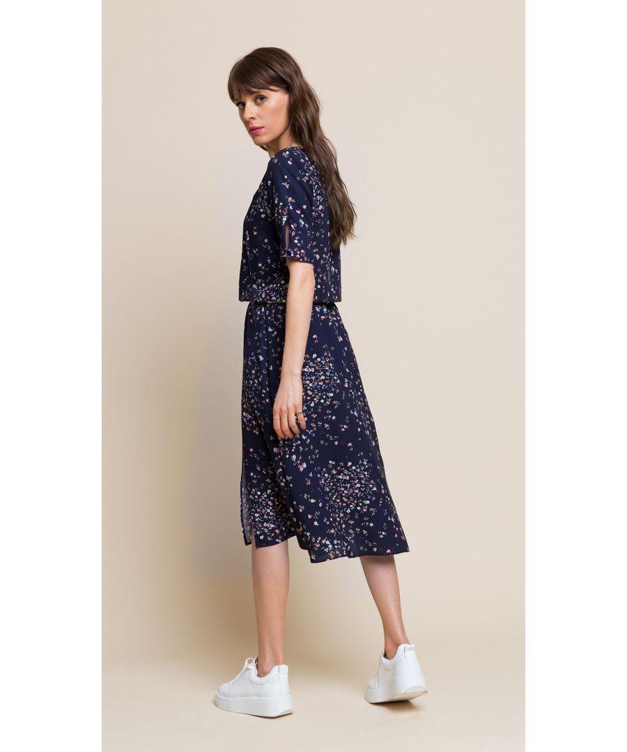 Image for Melissa Floral Navy Dress