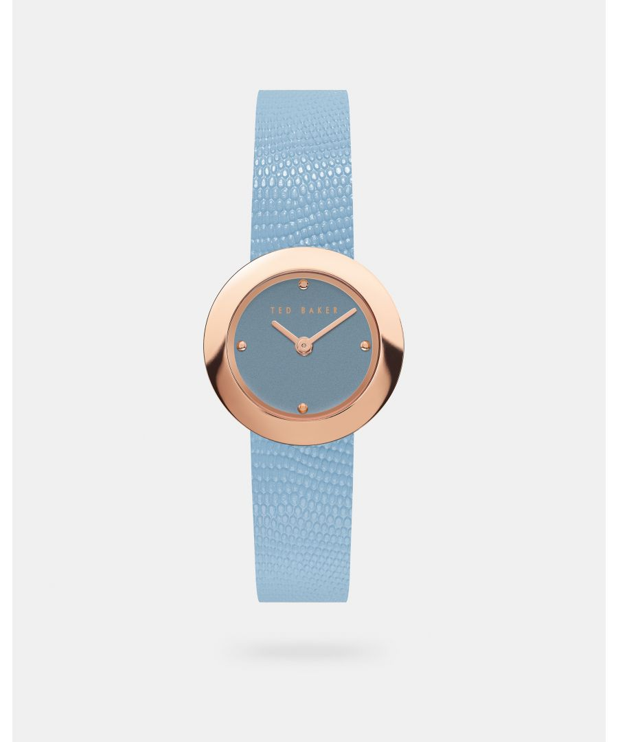 Image for Ted Baker Serenal Exotic Leather Strap Watch, Mid Blue