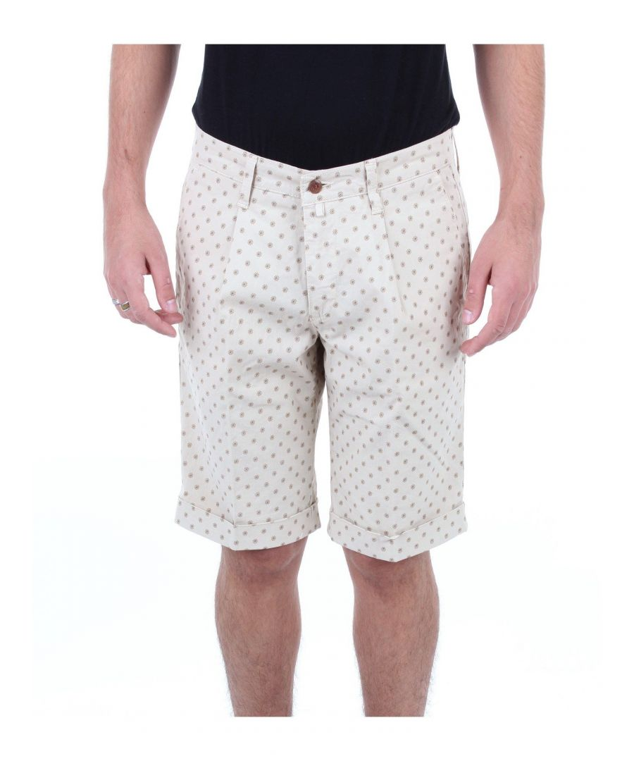 Image for BRIGLIA 1949 MEN'S MICRO48BEIGEFANTASIA BEIGE COTTON SHORTS