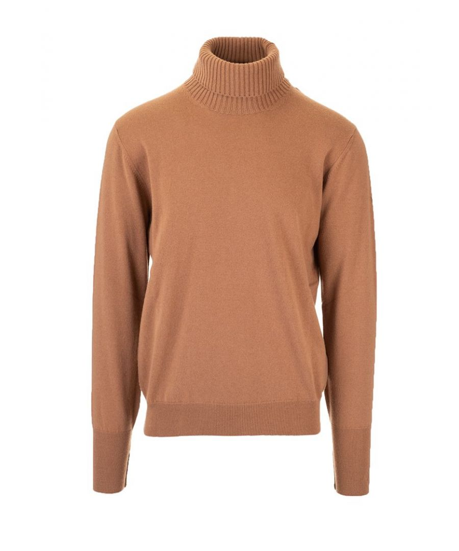 Image for BALLANTYNE MEN'S P2P01012K0014501 BROWN CASHMERE SWEATER