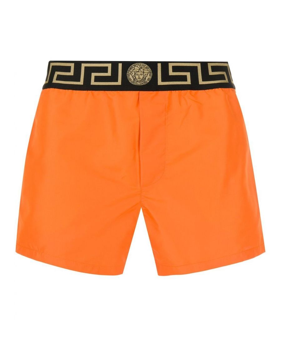 Image for VERSACE MEN'S ABU01022A232415A1200 ORANGE POLYESTER TRUNKS