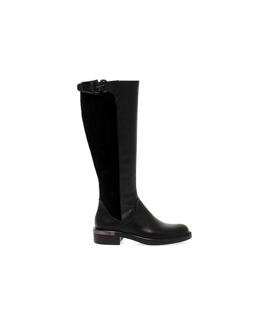 Image for FABI WOMEN'S 3758BLACK BLACK LEATHER BOOTS