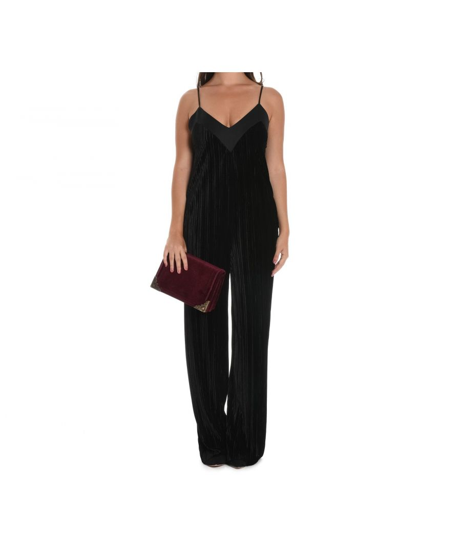 Image for SUOLI WOMEN'S S2617014SR003 BLACK POLYESTER JUMPSUIT