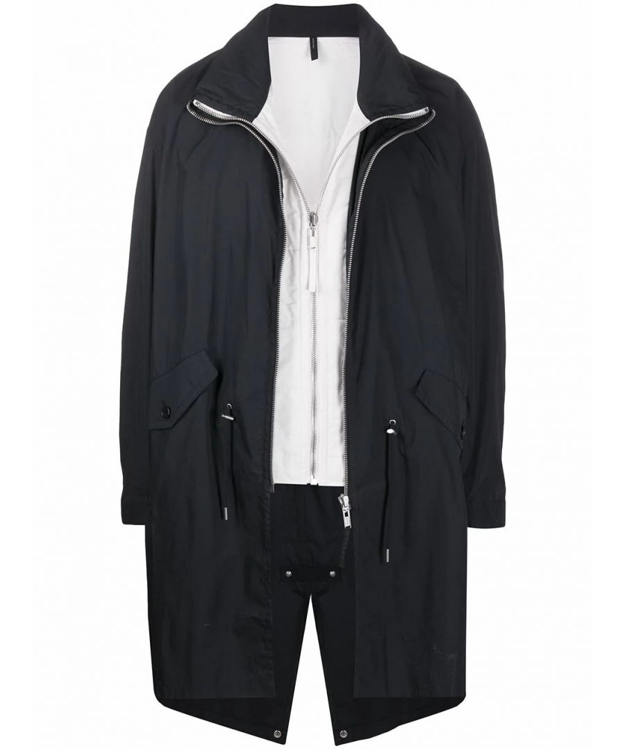 Image for HELMUT LANG MEN'S J09HM404A05 BLACK COTTON OUTERWEAR JACKET