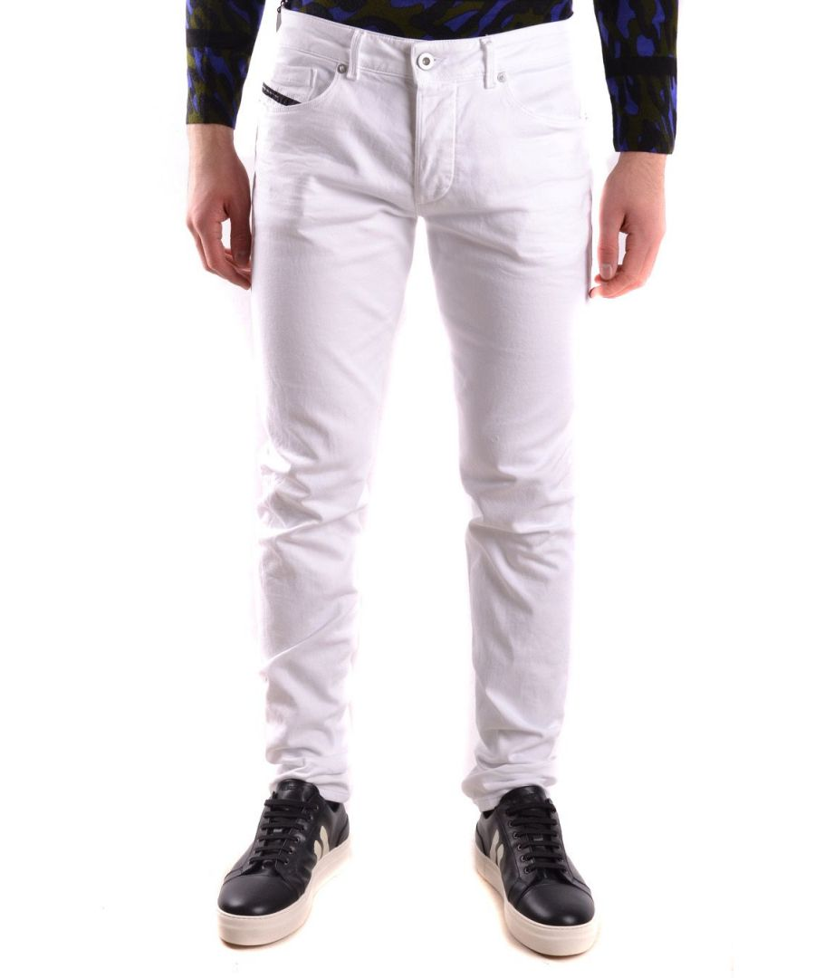 Image for DIESEL BLACK GOLD MEN'S 00SE8XBG6CU247100 WHITE COTTON JEANS