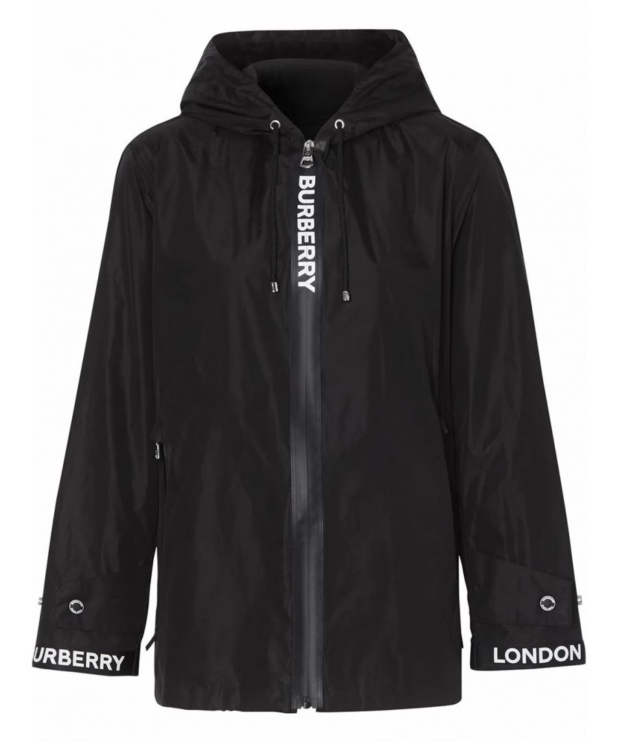 Image for BURBERRY WOMEN'S 8027503 BLACK POLYAMIDE OUTERWEAR JACKET