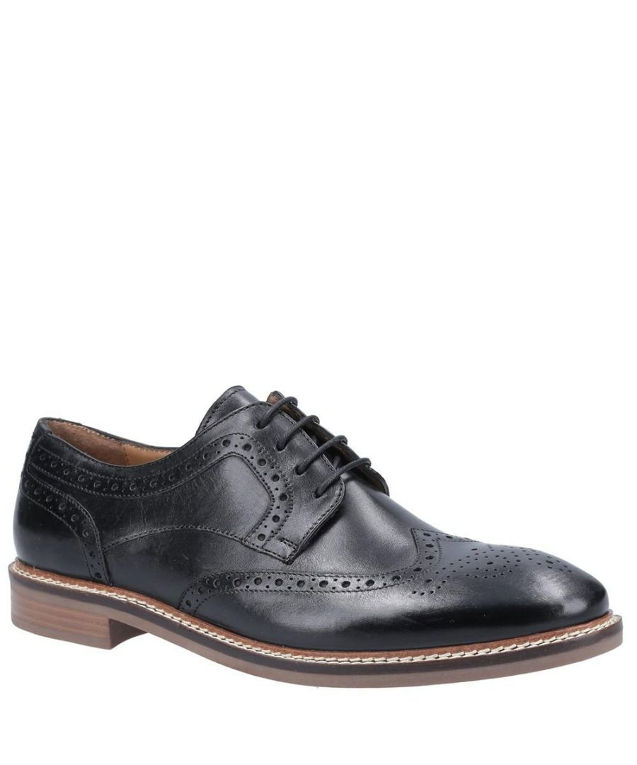 Image for Hush Puppies Mens Bryson Leather Shoes (Black)