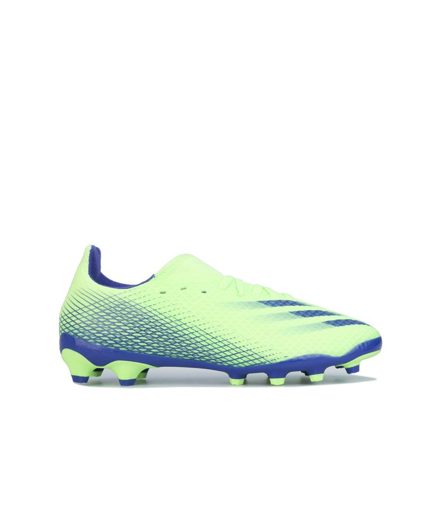 Image for Boy's adidas Junior X GHOSTED.3 MG Football Boots in Green