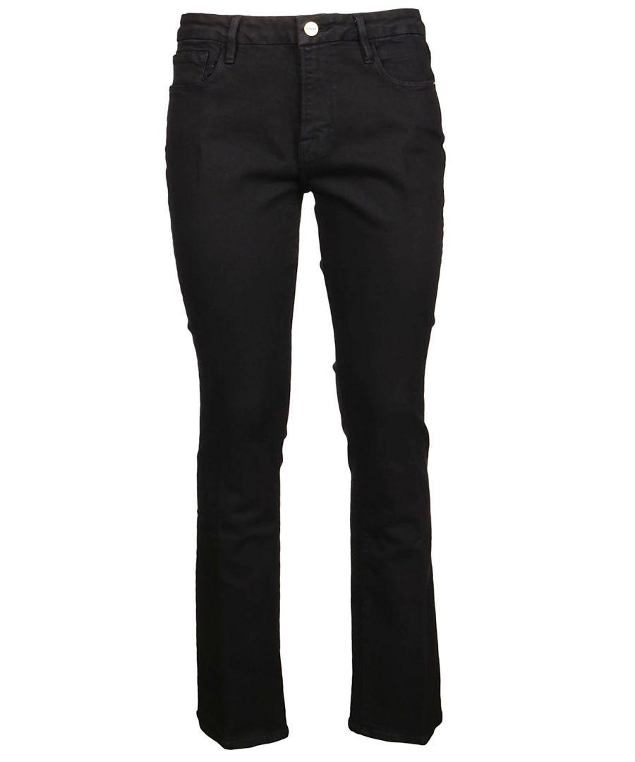 Image for FRAME WOMEN'S LMB790FILMNOIR BLACK COTTON JEANS