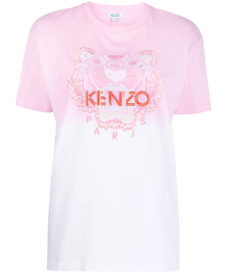 Image for KENZO WOMEN'S FA52TS9574YG32 PINK COTTON T-SHIRT