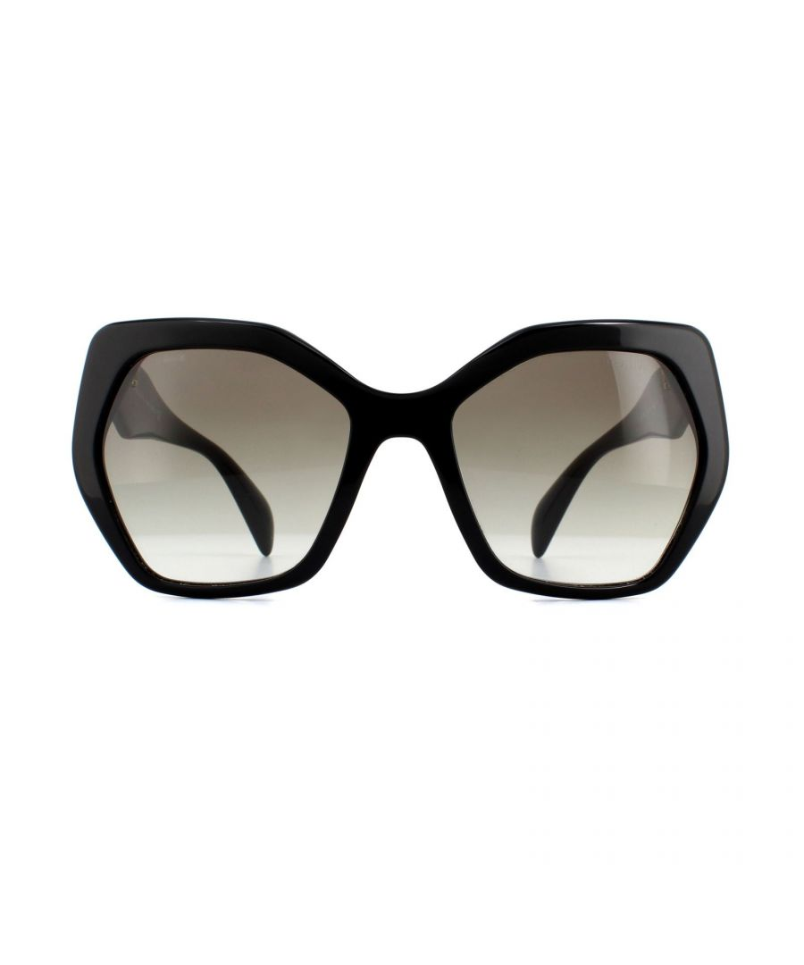 Image for Prada Sunglasses PR 16RS 1AB0A7 Black Grey Gradient