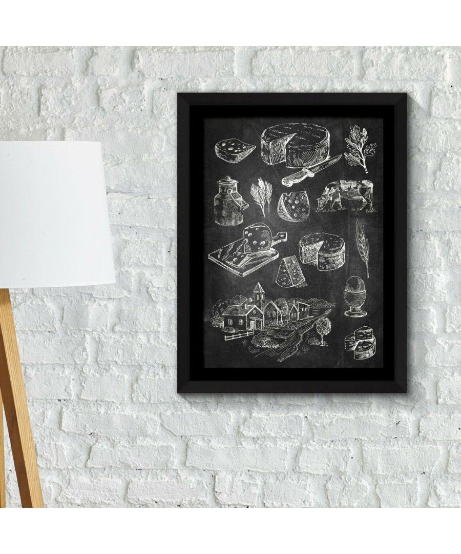 Image for Framed Art 2in1 Cakes & Cheese Poster Framed Photo, Framed Art