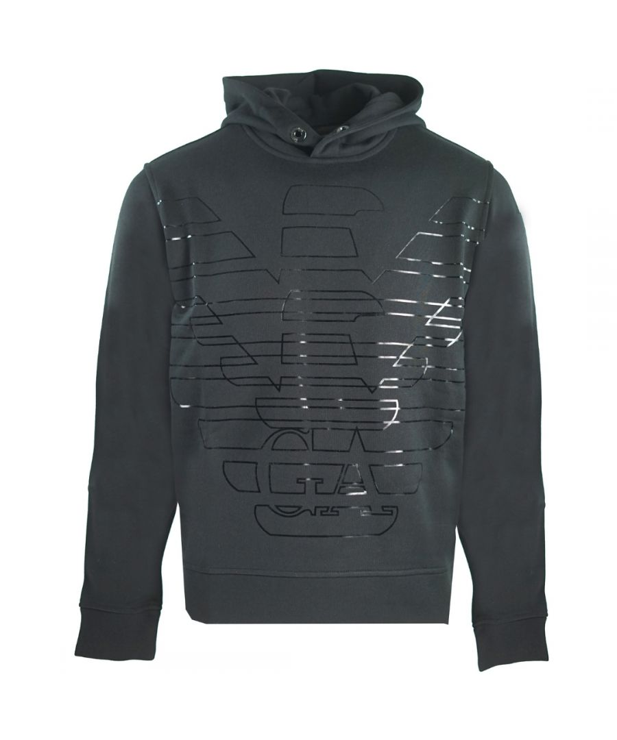 Image for Emporio Armani Stencil Logo Black Hoodie