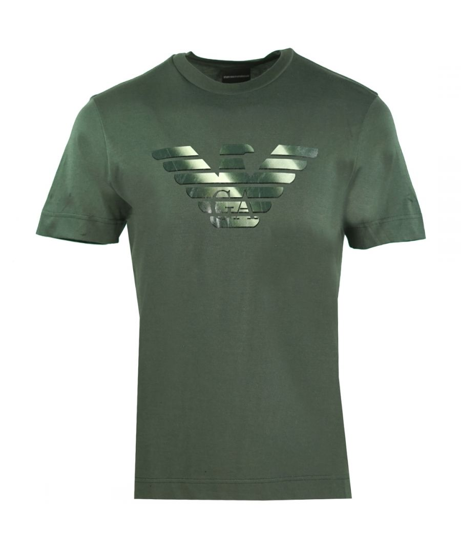 Image for Emporio Armani GA Eagle Logo Green T-Shirt