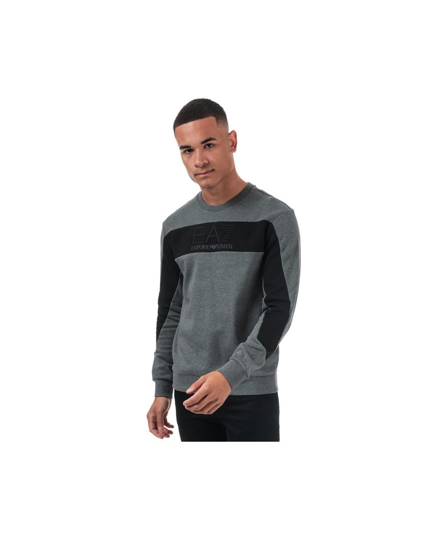 Image for Men's Emporio Armani EA7 Embossed Logo Sweatshirt in Grey