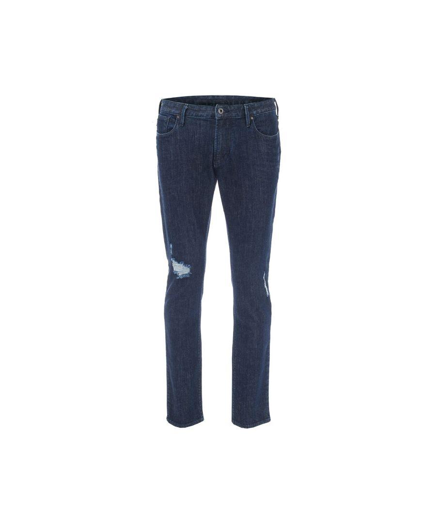 Image for Men's Armani J06 Slim Fit Jeans in Dark Blue
