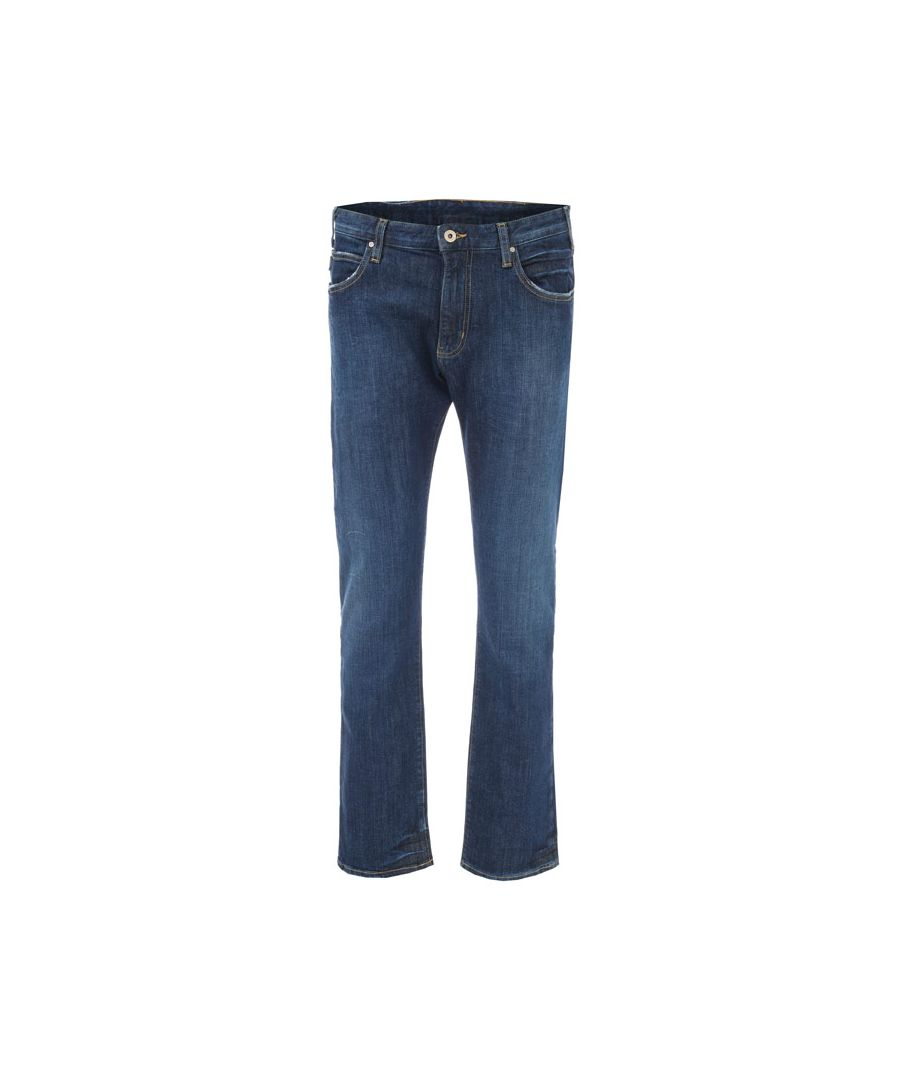 Image for Men's Armani J45 Regular Fit Jeans in Denim
