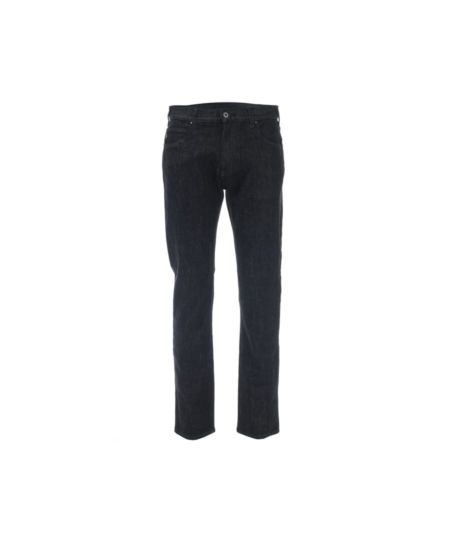 Image for Men's Armani J45 Slim Fit Jeans in Charcoal