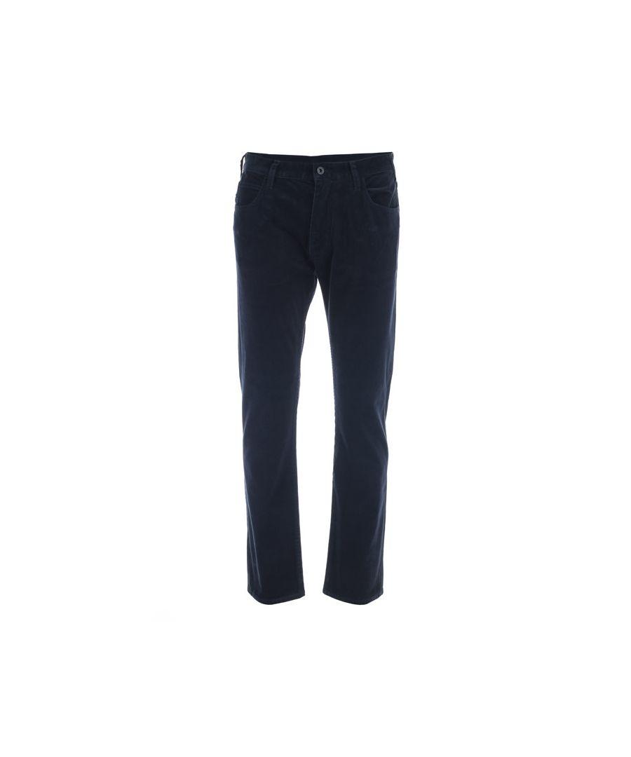 Image for Men's Armani J45 Slim Fit Cord Jeans in Navy