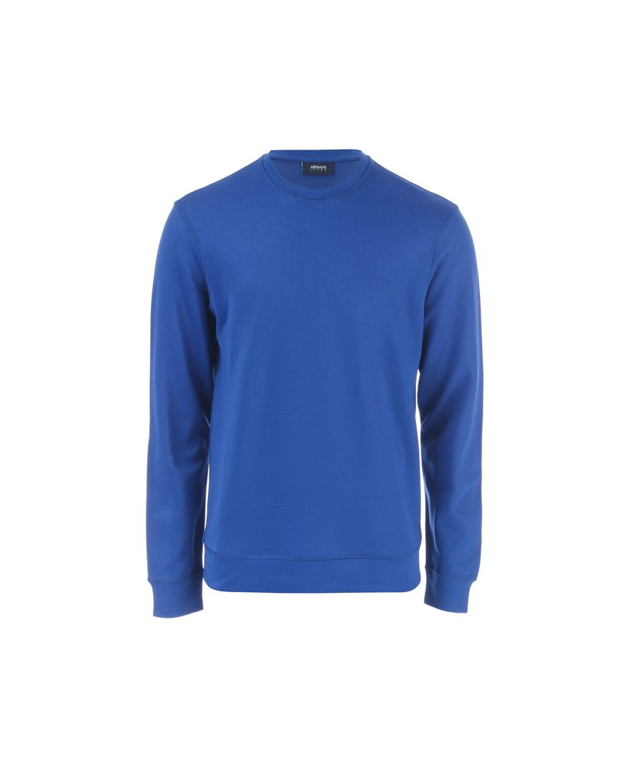 Image for Men's Armani Crew Sweatshirt in Blue
