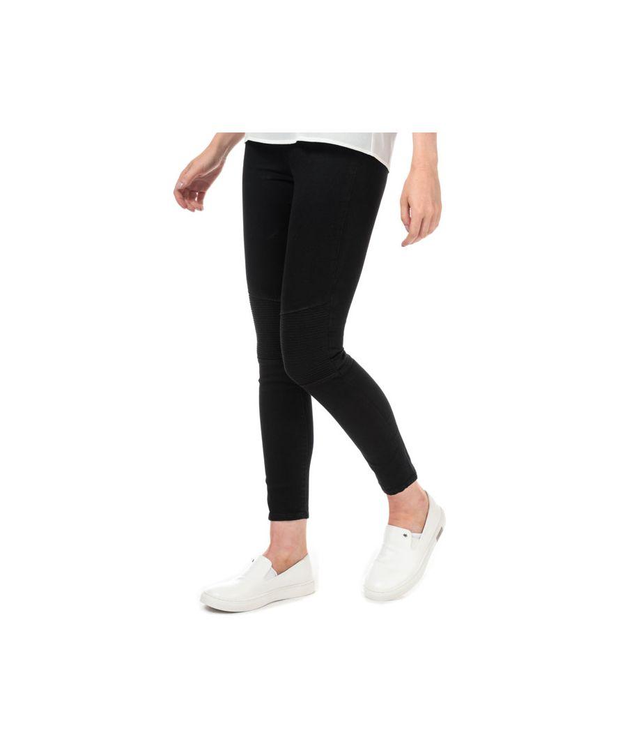 Image for Women's Armani Exchange J69 Super Skinny Biker Jeans in Black