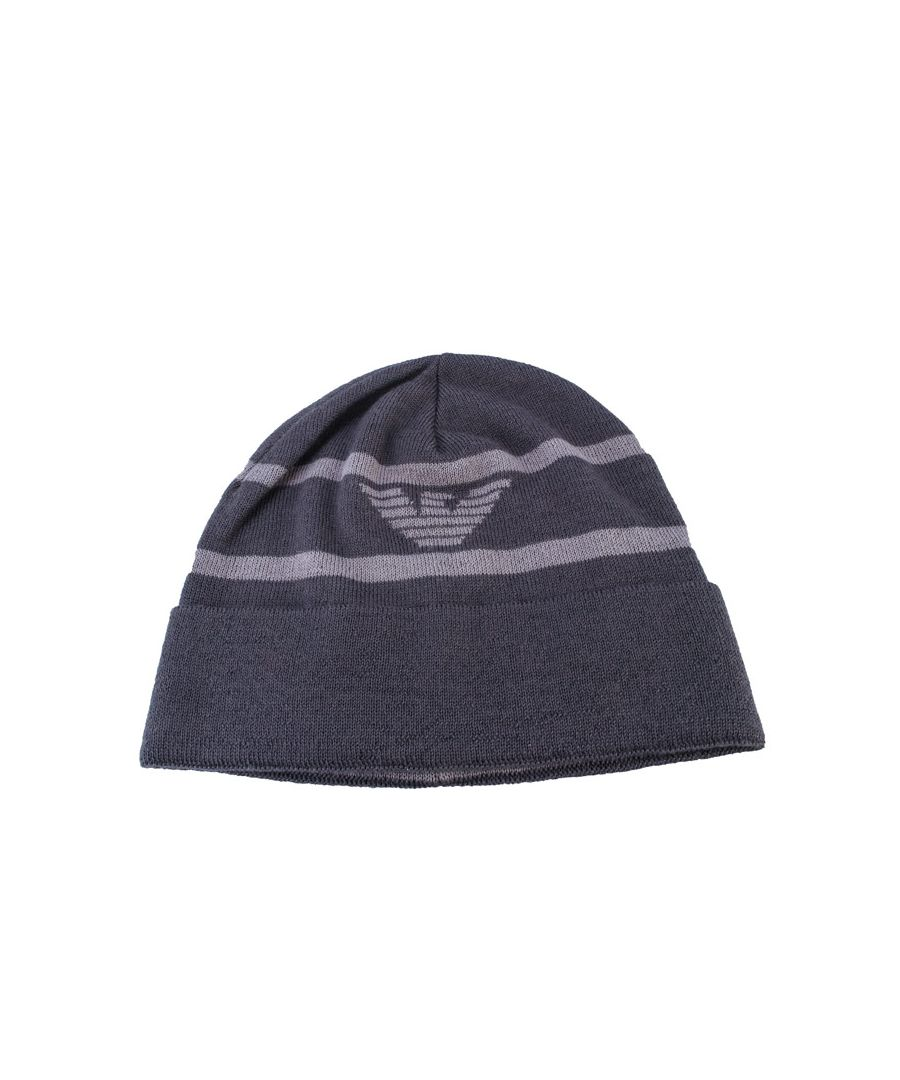 Image for Accessories Armani Eagle Beanie in Grey