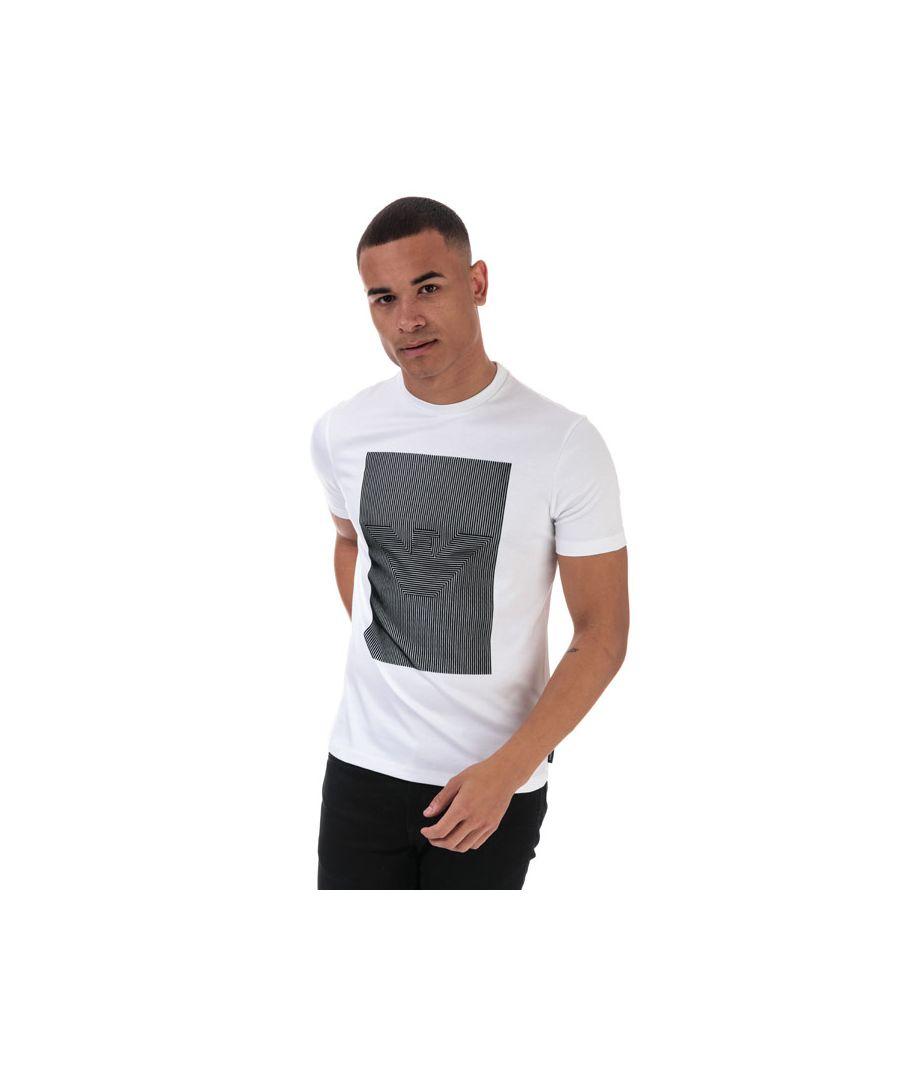 Image for Men's Armani Square Logo T-Shirt in White