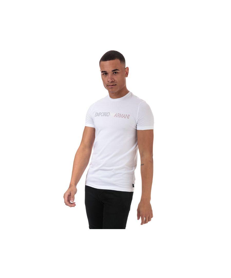 Image for Men's Armani Line Logo T-Shirt in White