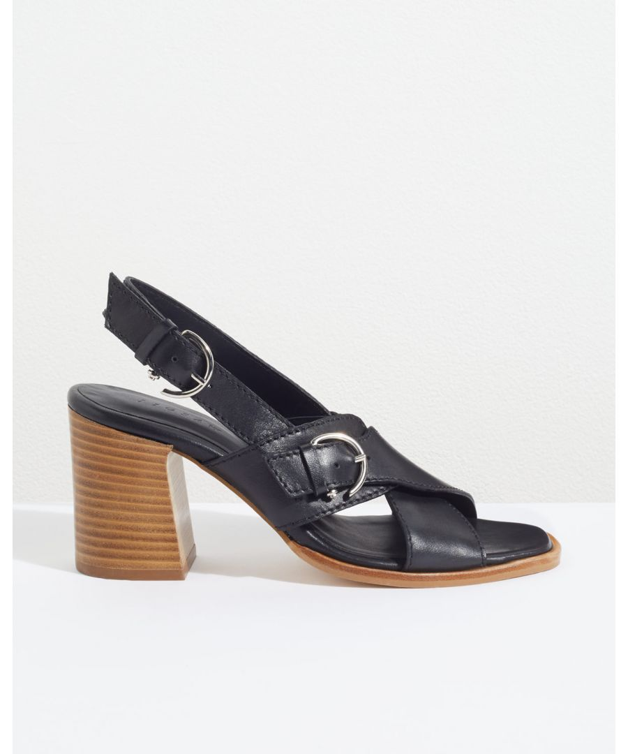 Image for Bretta Buckle Heeled Sandal