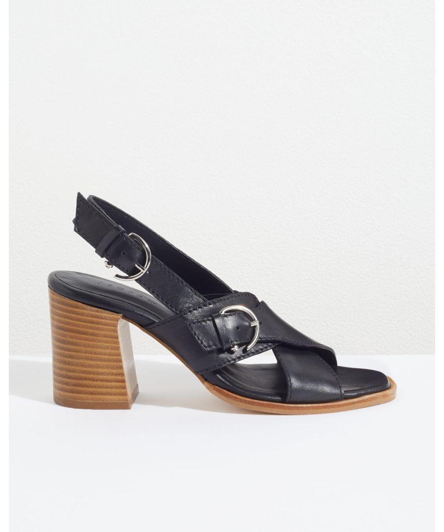 Image for Bretta Buckle Heeled Sandal