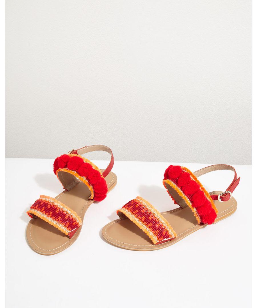 Image for Minna Embellished Pom Sandal