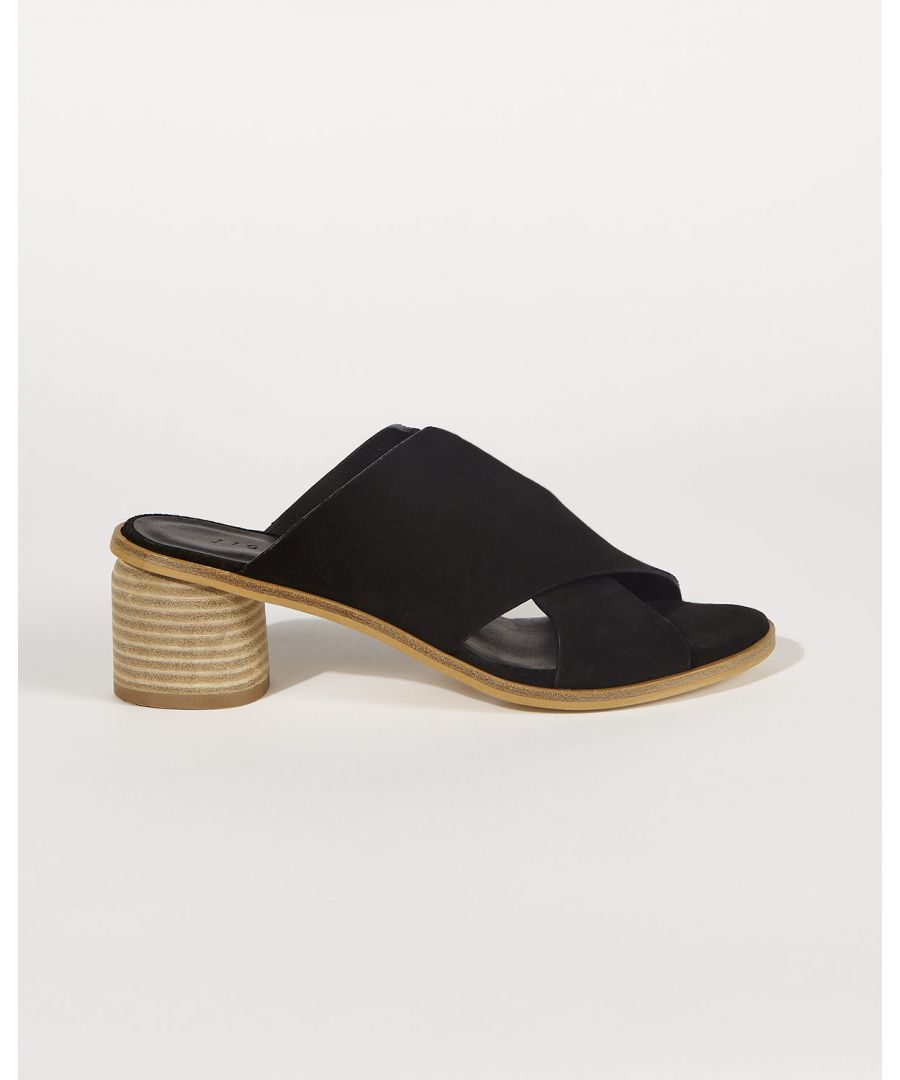 Image for Clover Leather Crossover Mule