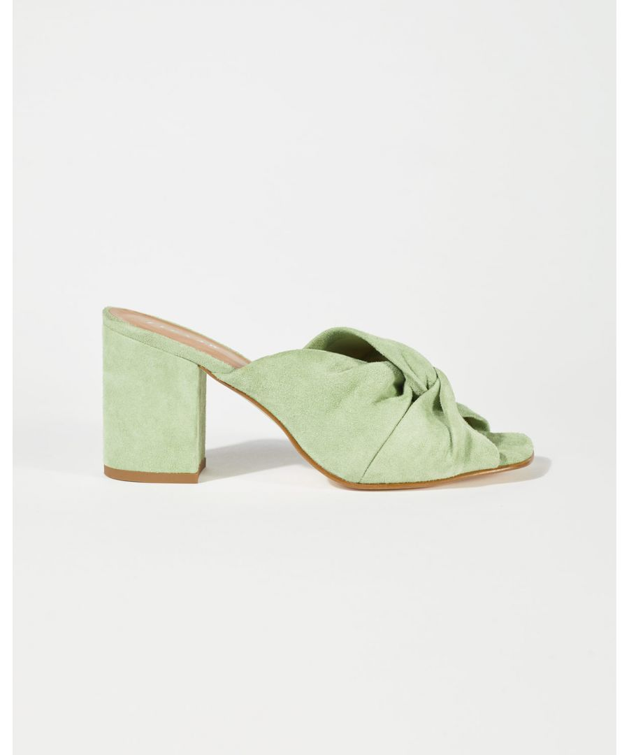 Image for Twist Knot Suede Mule