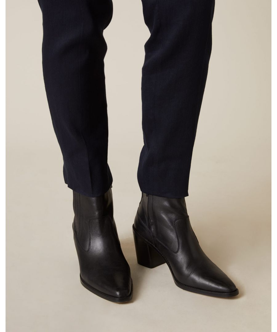 Image for Adrienne Leather Ankle Boot