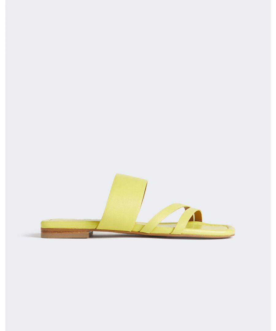 Image for Karla Leather Slider Sandal