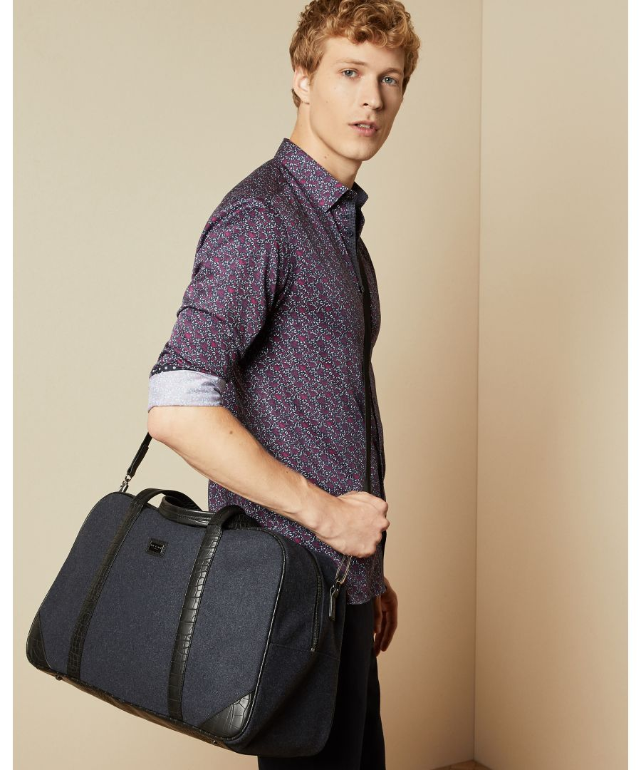 Image for Ted Baker Masher Wool Holdall, Navy