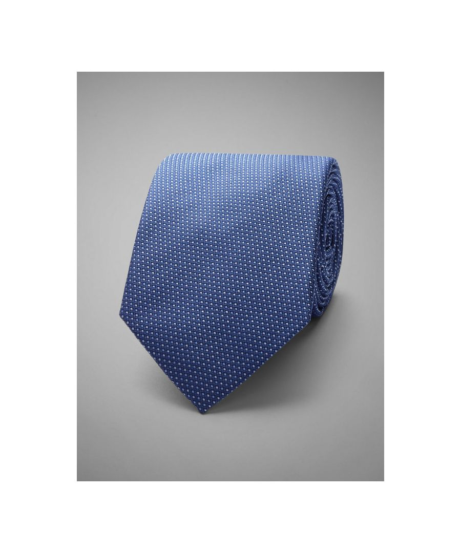 Image for Micro Dot Woven Silk Tie