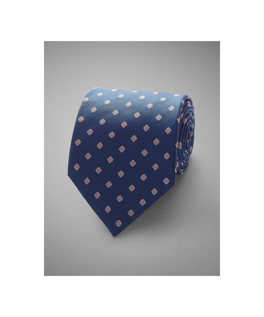 Image for Floral Neat Woven Silk Tie