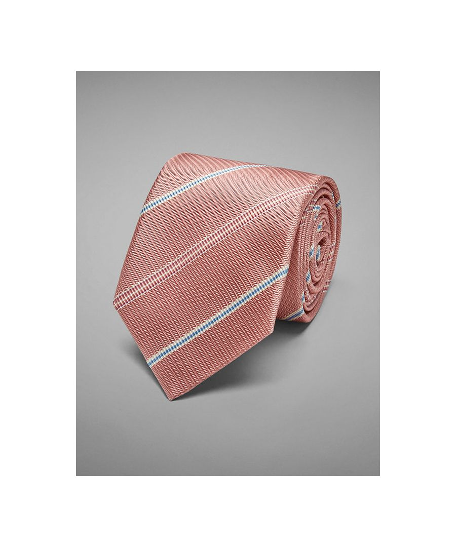 Image for Textured Stripe Woven Tie