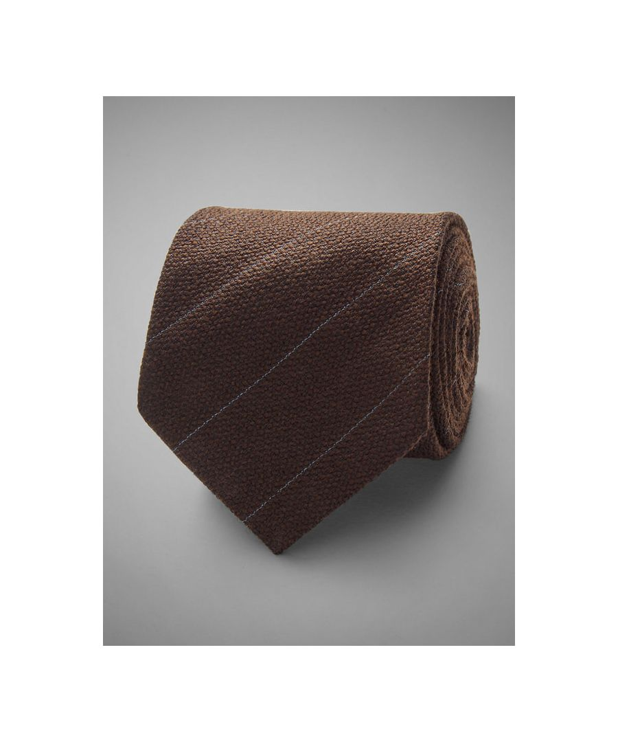 Image for Pin Stripe Woven Wool Tie