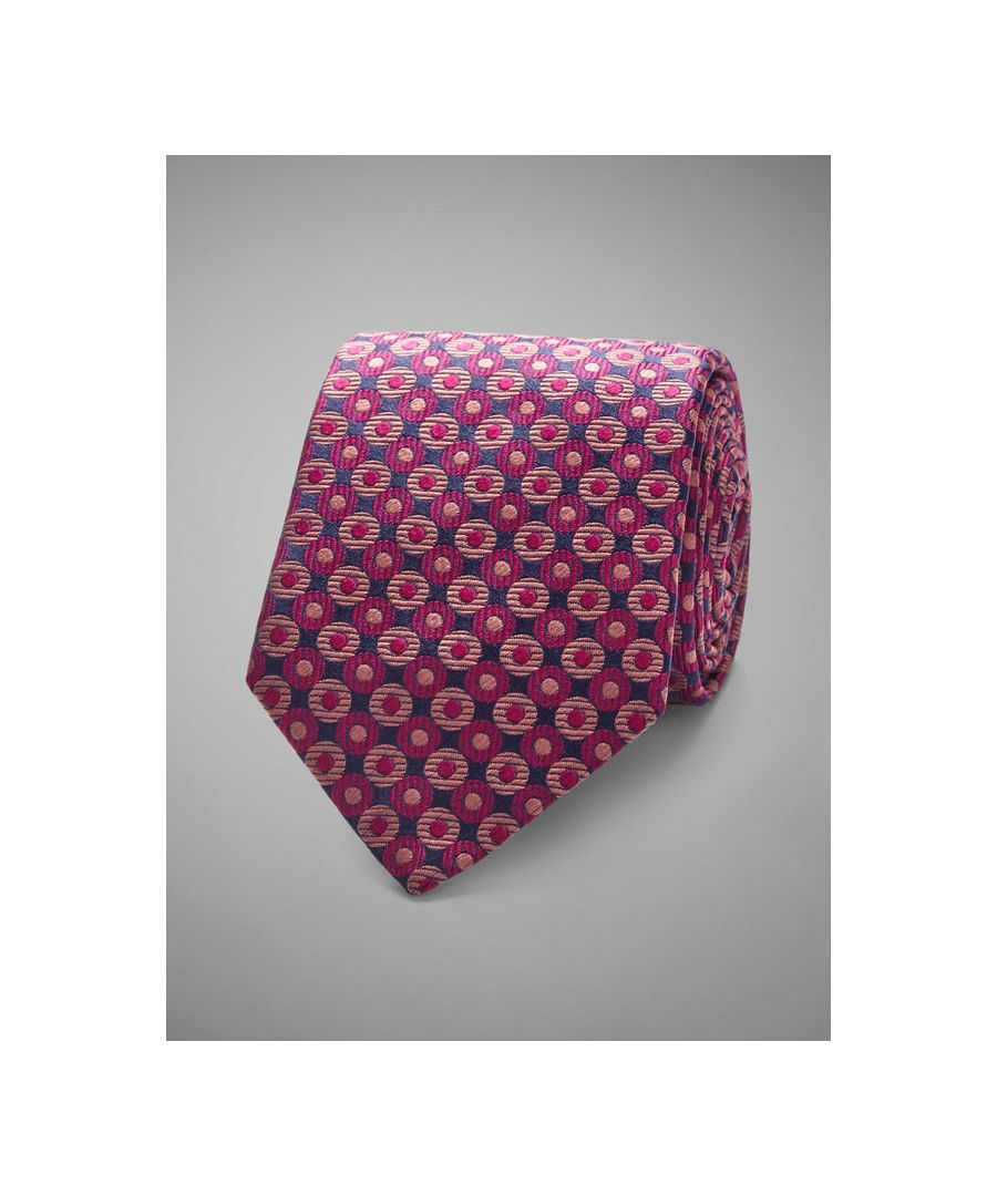 Image for Circle Geo Woven Silk Tie