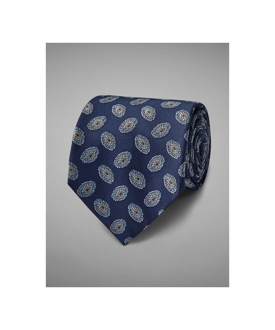 Image for Oval Medallion Woven Silk Tie
