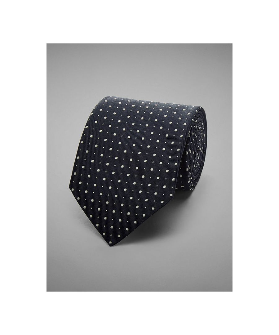 Image for Two Dot Woven Silk Tie
